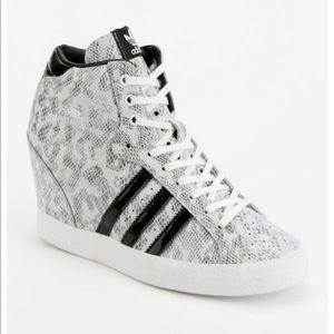 Adidas Basket Snakeskin Hidden Wedge Hi Sneakers